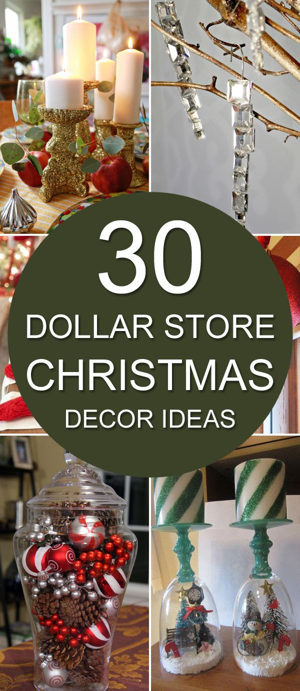 Best ideas about DIY Christmas Decor Ideas . Save or Pin 30 Dollar Store Christmas Decor Ideas Now.