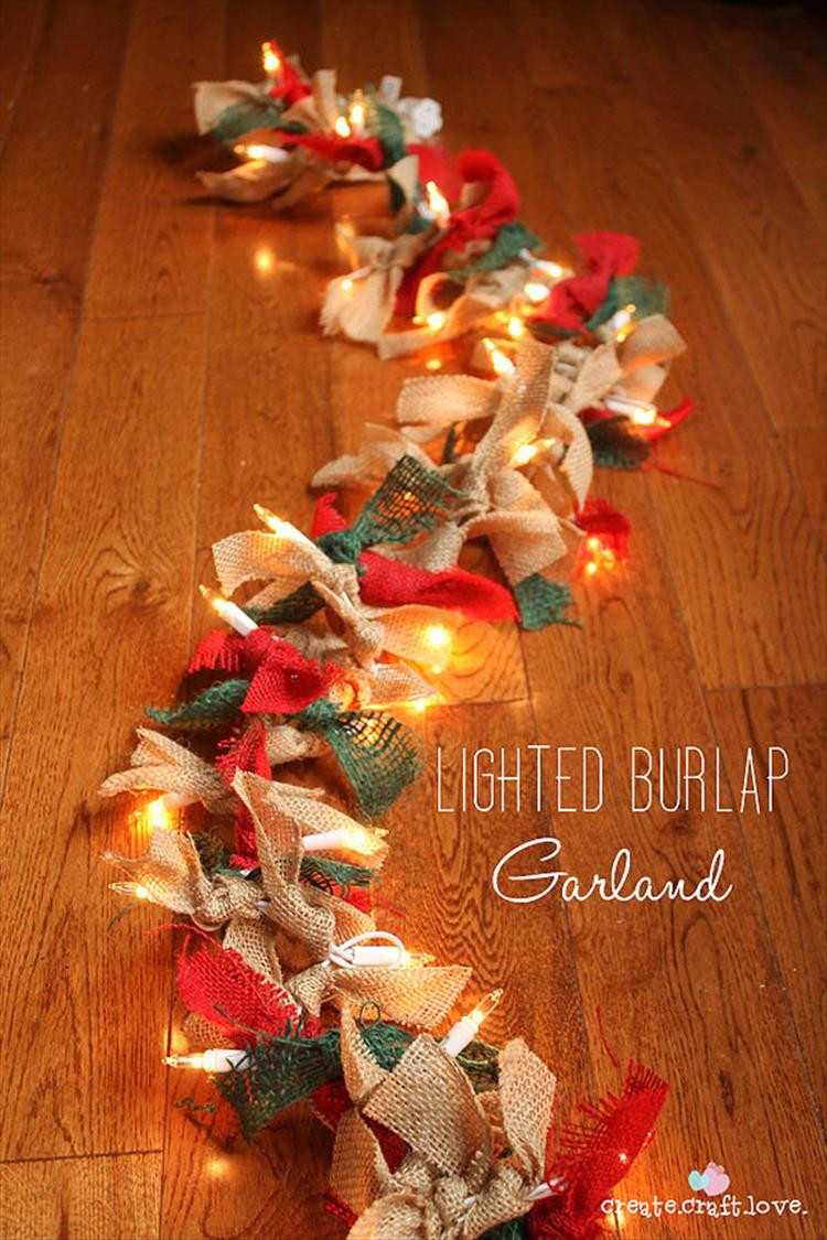 Best ideas about DIY Christmas Decor Ideas . Save or Pin 50 Trendy and Beautiful DIY Christmas Lights Decoration Now.