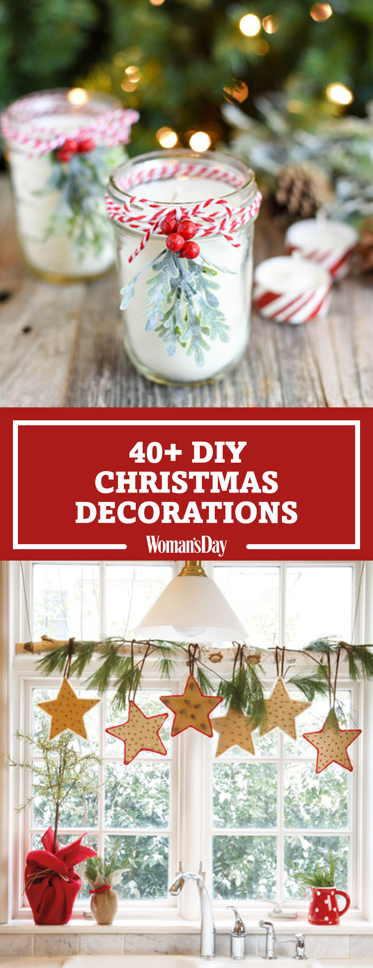 Best ideas about DIY Christmas Decor Ideas . Save or Pin 47 Easy DIY Christmas Decorations Homemade Ideas for Now.