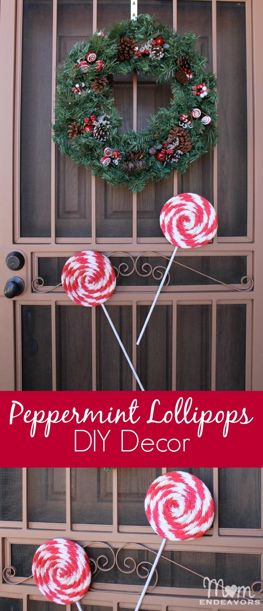 Best ideas about DIY Christmas Decor . Save or Pin DIY Peppermint Lollipops Christmas Decor Now.