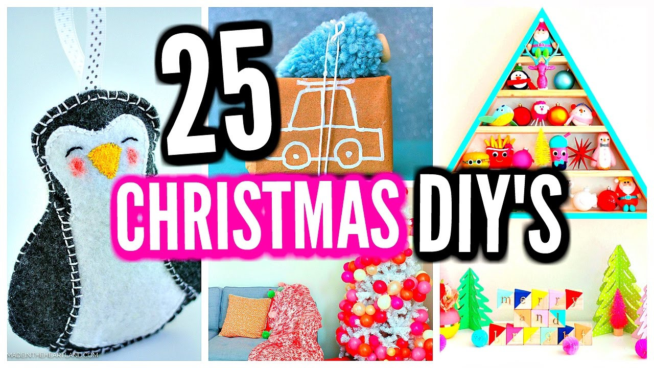 Best ideas about DIY Christmas Decorations For Your Room . Save or Pin 25 DIY Christmas Decorations DIY Room Decor Ideas Now.