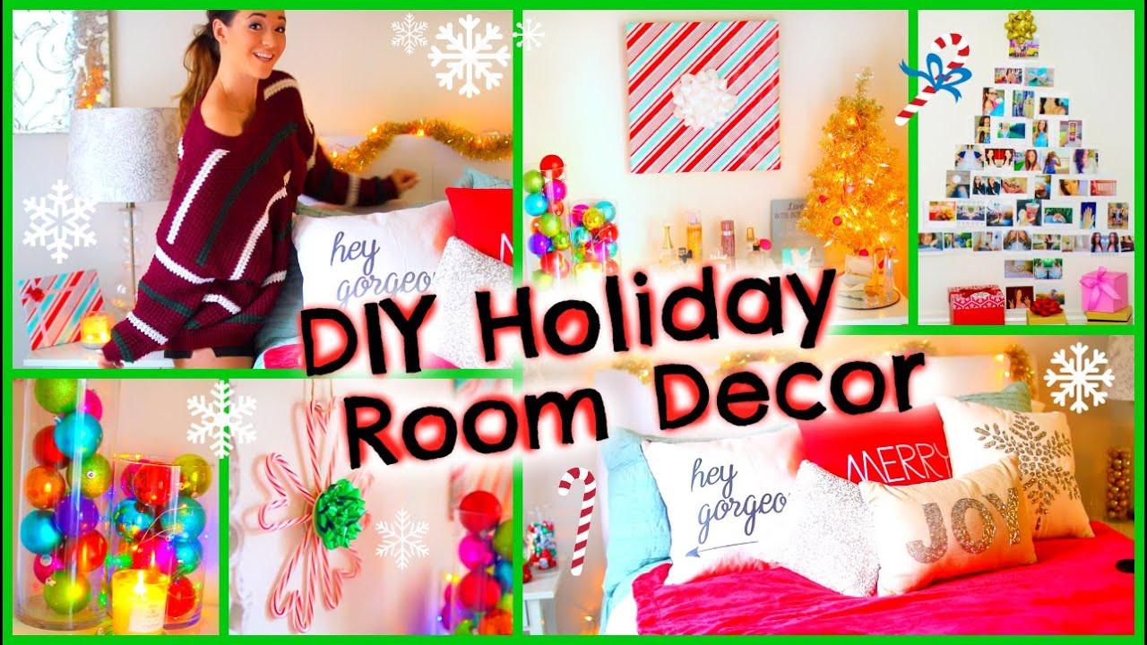 Best ideas about DIY Christmas Decorations For Your Room . Save or Pin DIY Holiday Room Decor ♡ Fun Christmas Decorations for Now.