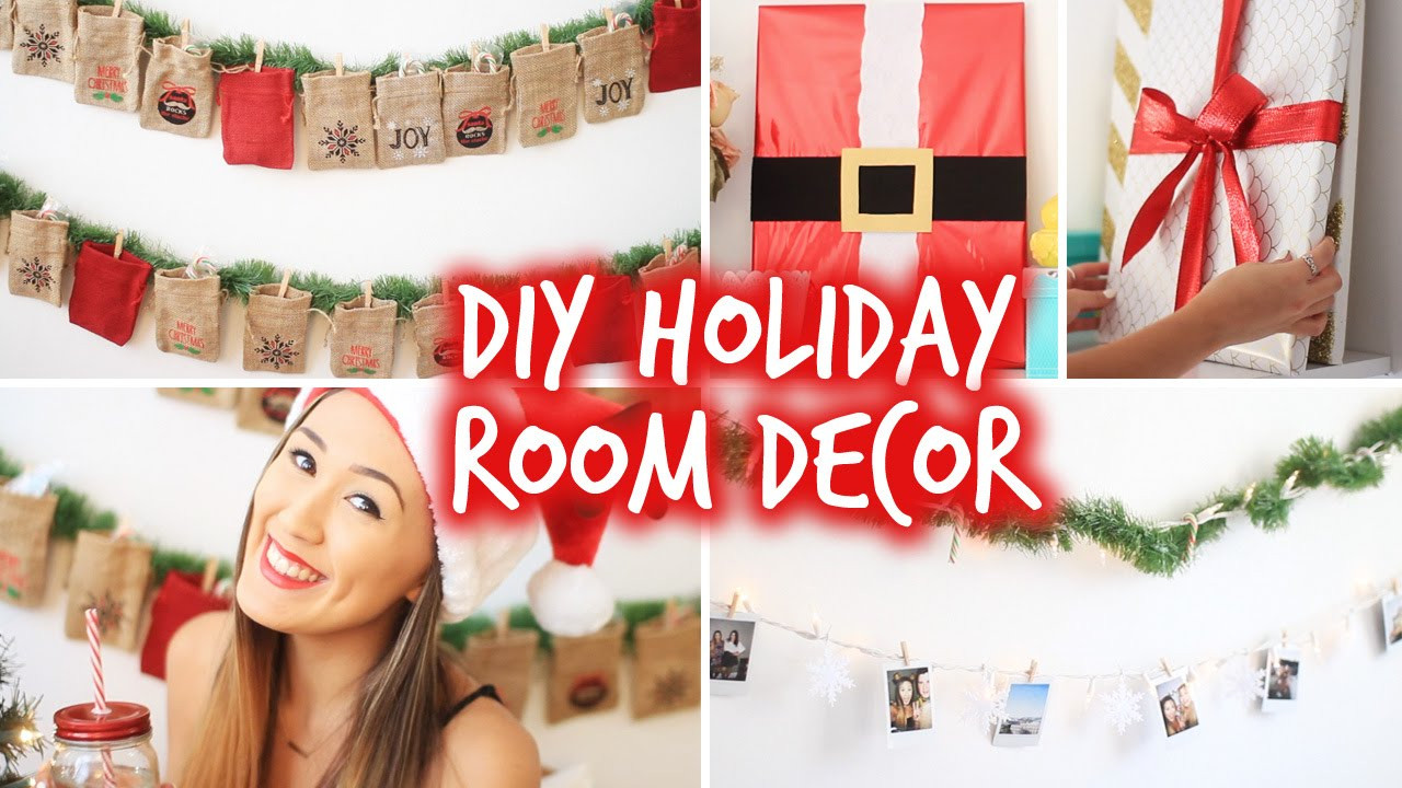 Best ideas about DIY Christmas Decorations For Your Room . Save or Pin DIY Holiday Room Decor Wall Decor & Christmas Advent Now.