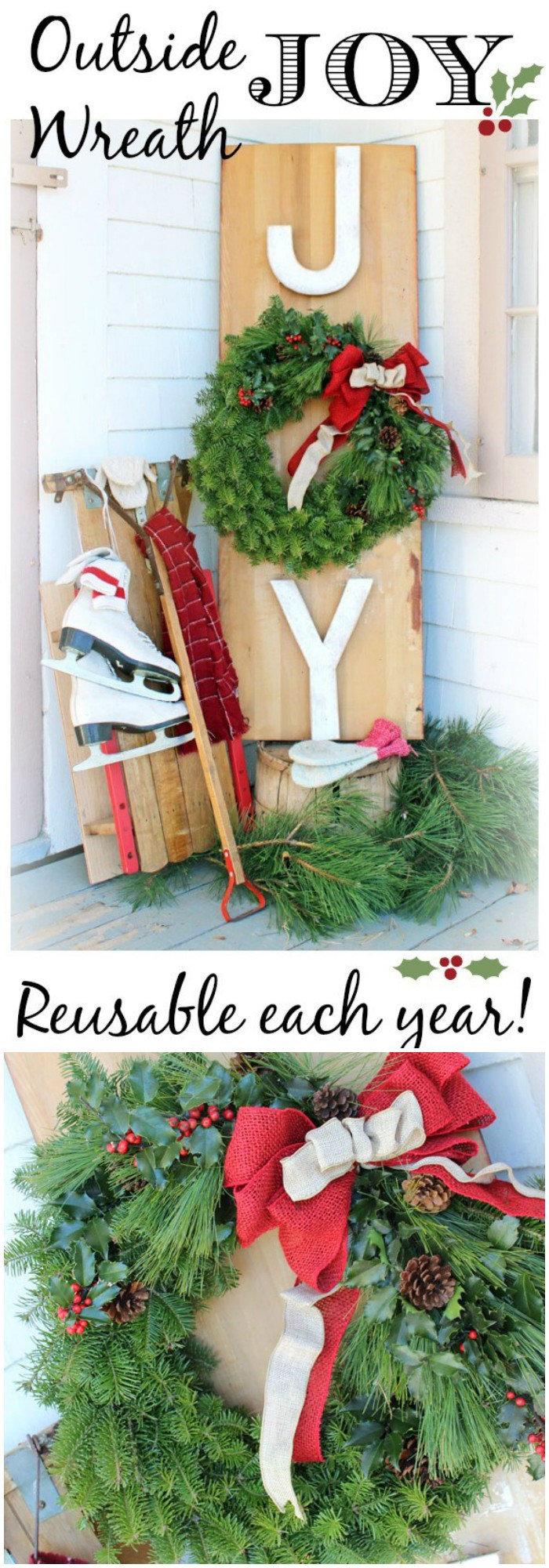 Best ideas about DIY Christmas Decorations Outdoors . Save or Pin 21 Cheap DIY Outdoor Christmas Decorations • DIY Home Decor Now.
