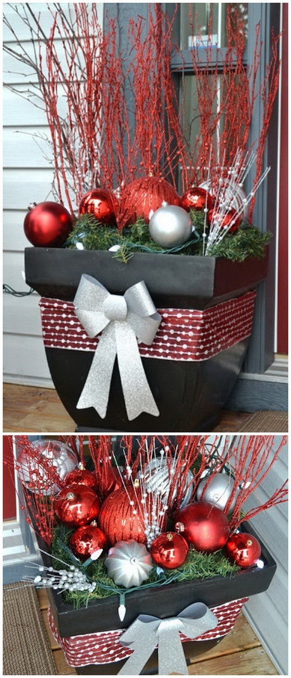 Best ideas about DIY Christmas Decorations Outdoors . Save or Pin 30 Amazing DIY Outdoor Christmas Decoration Ideas For Now.