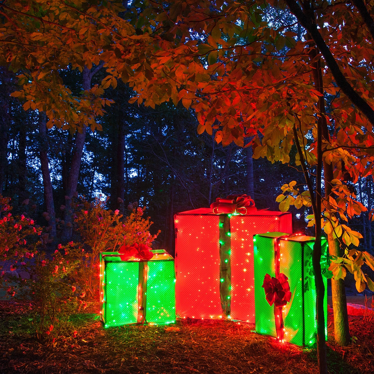 Best ideas about DIY Christmas Decorations Outdoors . Save or Pin DIY Christmas Decorations 4 Lighted Gift Boxes Now.