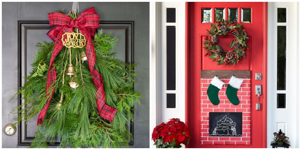 Best ideas about DIY Christmas Door Decoration . Save or Pin 18 DIY Christmas Door Decorations Holiday Door Now.