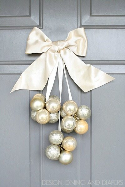 Best ideas about DIY Christmas Door Decoration . Save or Pin Neutral Christmas Decor Ideas Taryn Whiteaker Now.