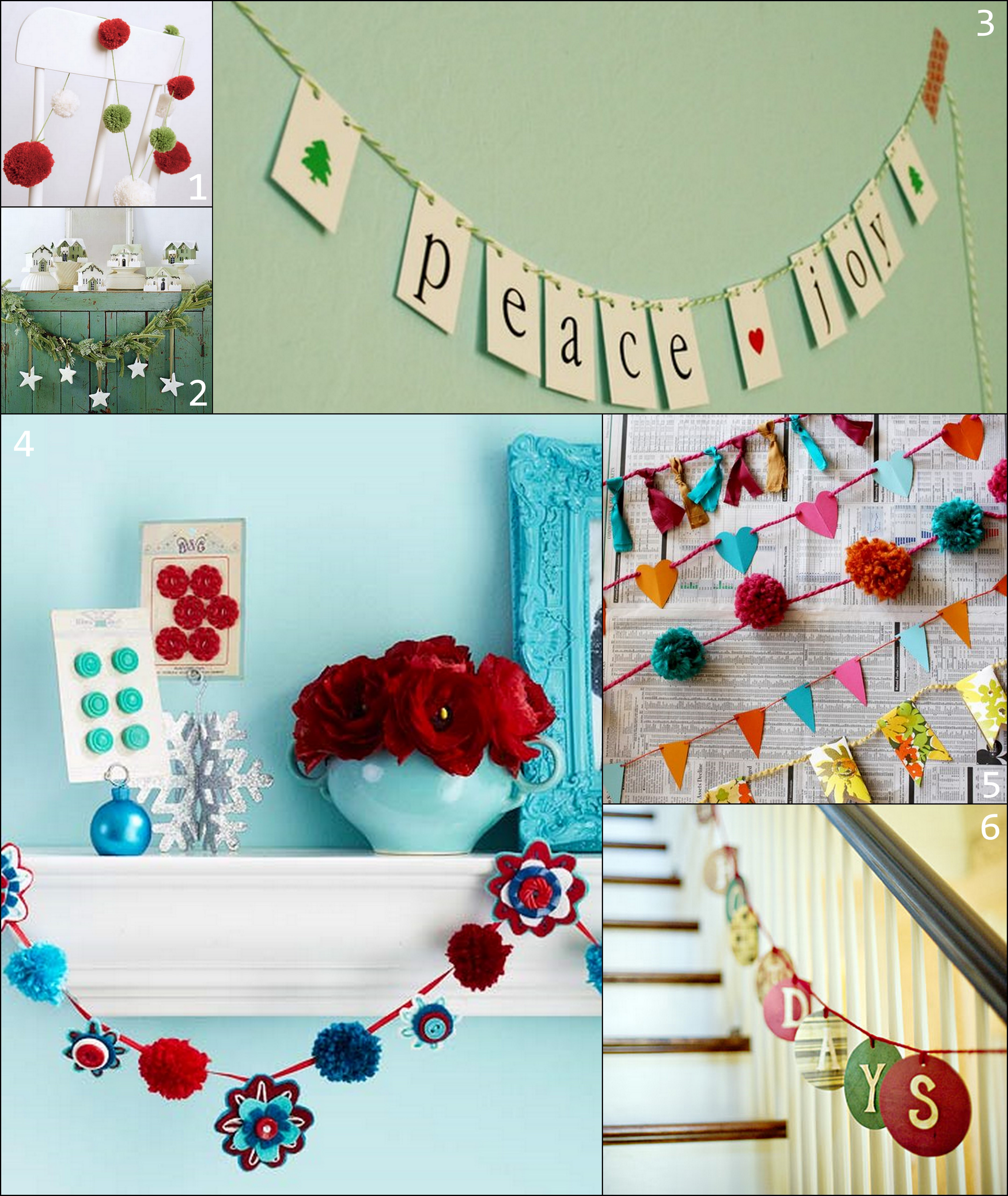 Best ideas about DIY Christmas Garland Ideas . Save or Pin Paper and Fabric Garland Ideas for the Holidays Now.