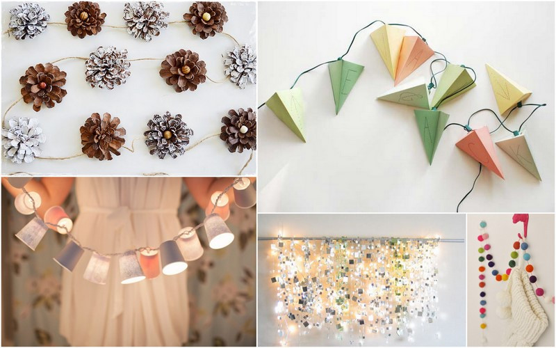 Best ideas about DIY Christmas Garlands . Save or Pin Kanelstrand Weekend DIY Creative Christmas Garlands Now.