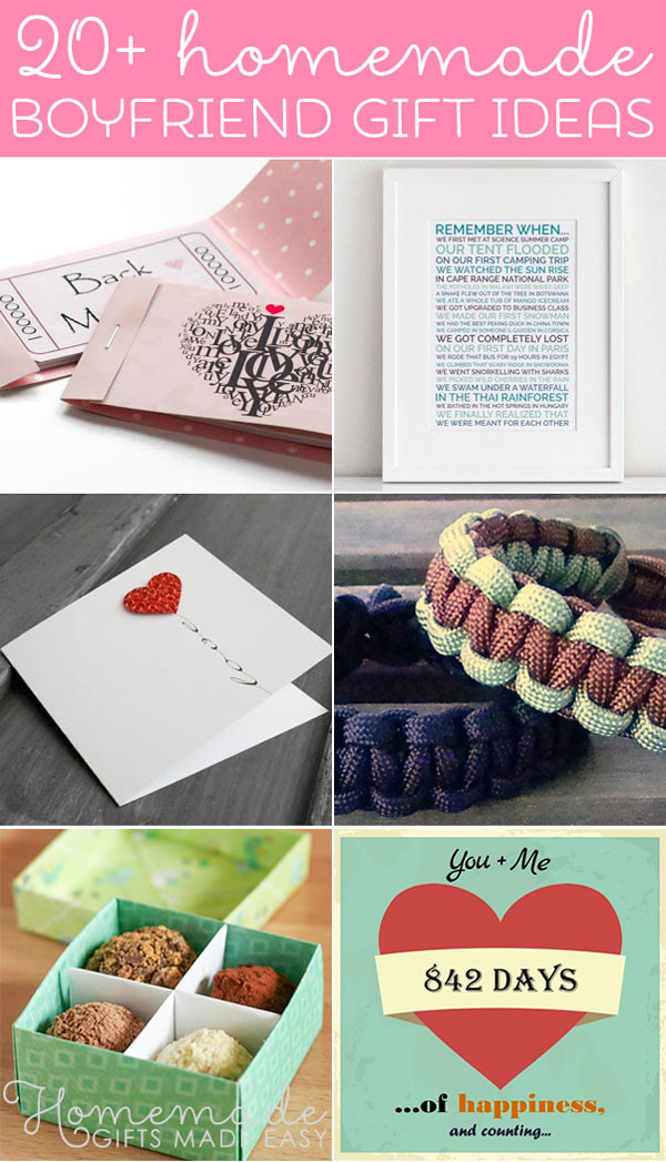 Best ideas about DIY Christmas Gift For Boyfriend . Save or Pin Best Homemade Boyfriend Gift Ideas Romantic Cute and Now.