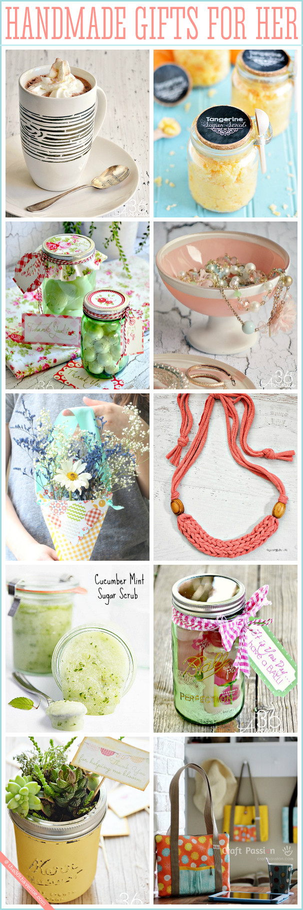 Best ideas about DIY Christmas Gift For Her . Save or Pin Handmade Gifts for Women The 36th AVENUE Now.