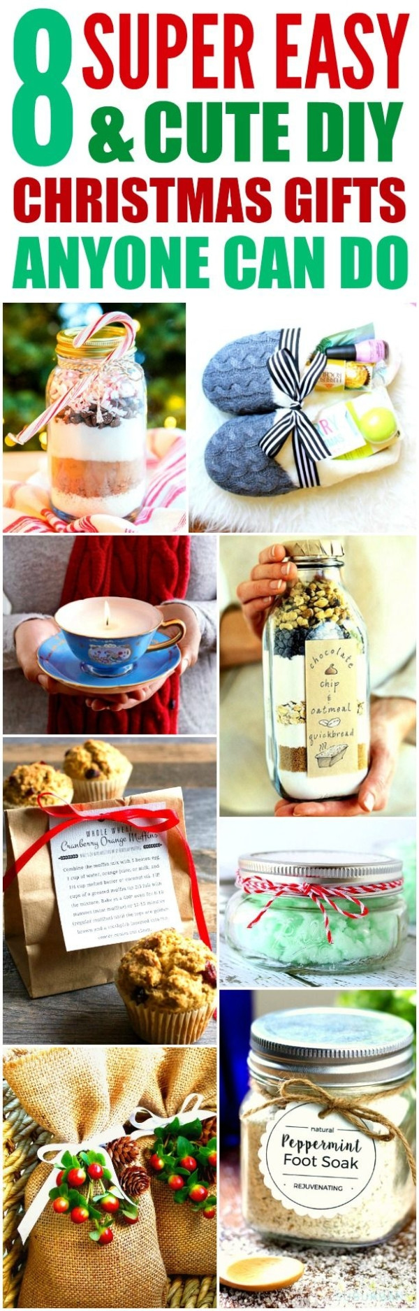 Best ideas about DIY Christmas Gifts For Family . Save or Pin These 8 easy and cute DIY Christmas ts are THE BEST I Now.