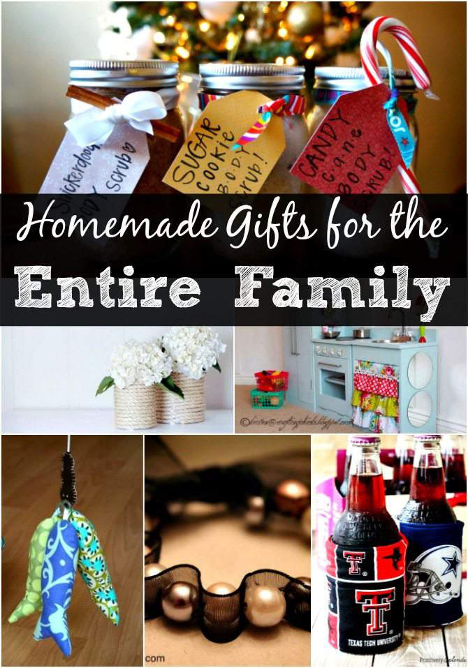 Best ideas about DIY Christmas Gifts For Family . Save or Pin DIY Christmas Gift Ideas for the Entire Family – over 30 Now.
