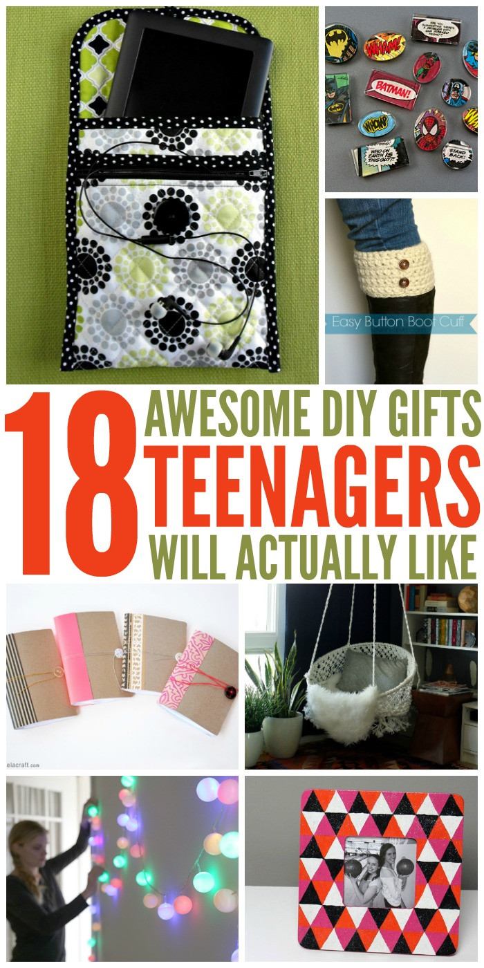 Best ideas about DIY Christmas Gifts For Teenagers . Save or Pin 18 DIY Gifts Teens Will Actually Like Now.