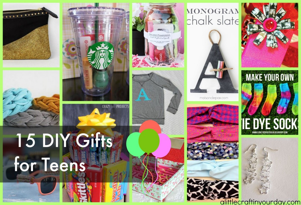Best ideas about DIY Christmas Gifts For Teenagers . Save or Pin DIY Gifts For Teens A Little Craft In Your DayA Little Now.