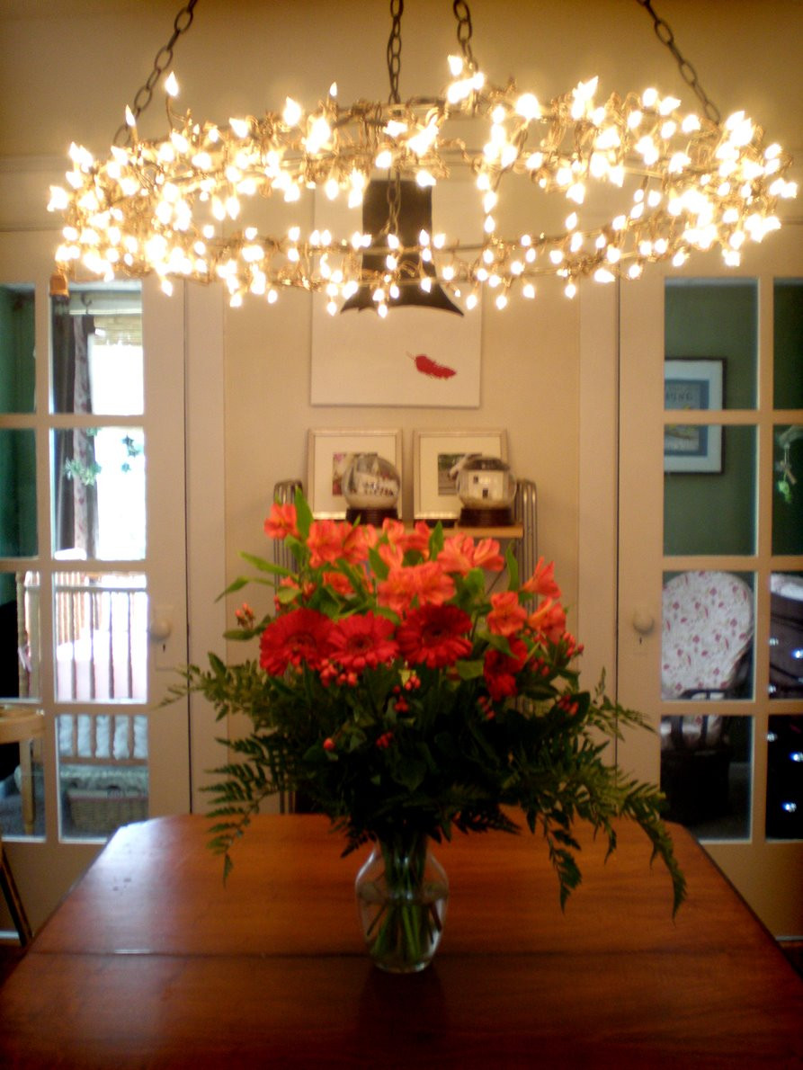 Best ideas about DIY Christmas Light . Save or Pin Grosgrain Hanging Chandelier DIY Now.