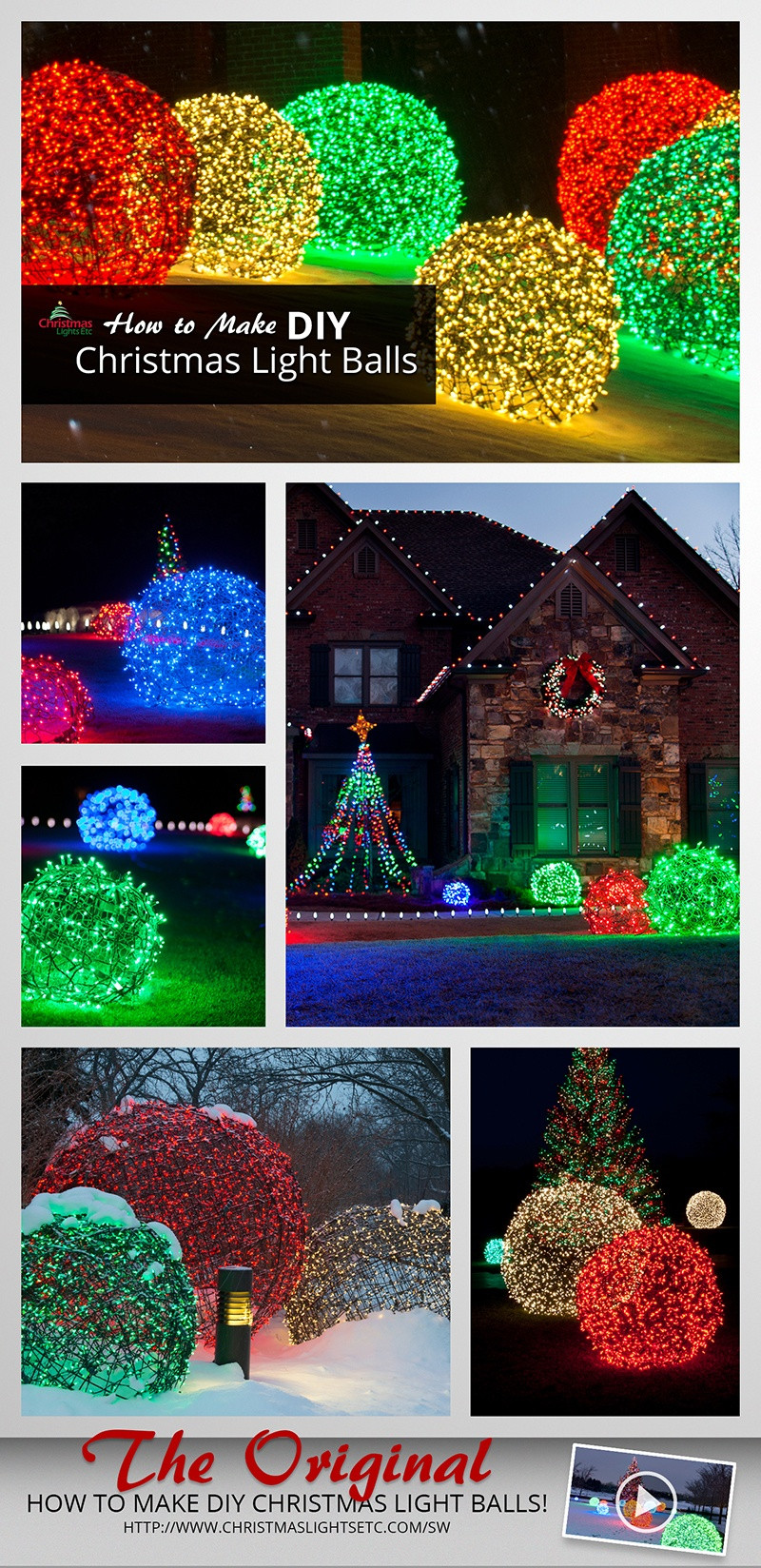 Best ideas about DIY Christmas Light . Save or Pin How to Make Christmas Light Balls Now.