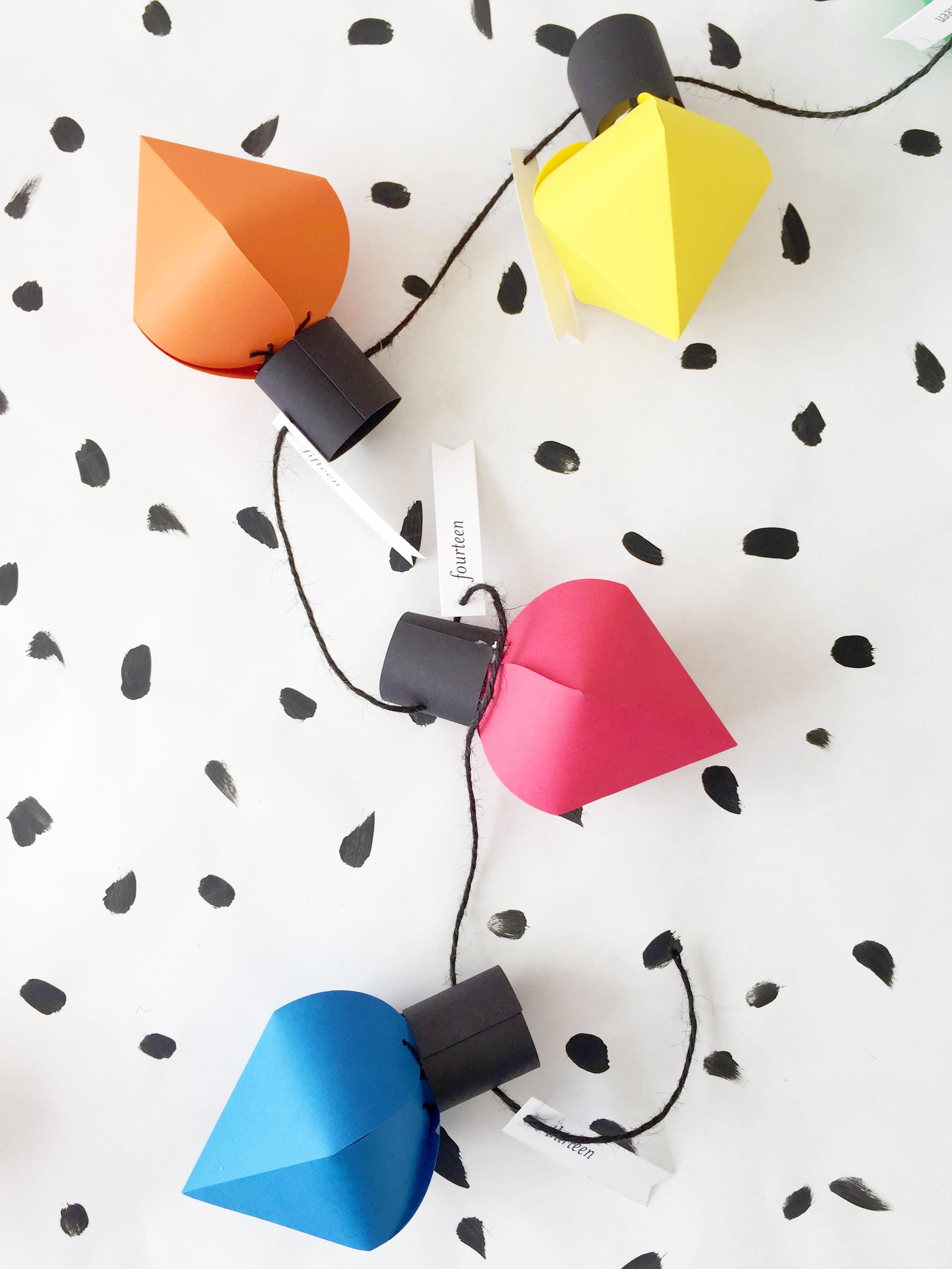 Best ideas about DIY Christmas Light . Save or Pin DIY Christmas bulb advent calendar Now.