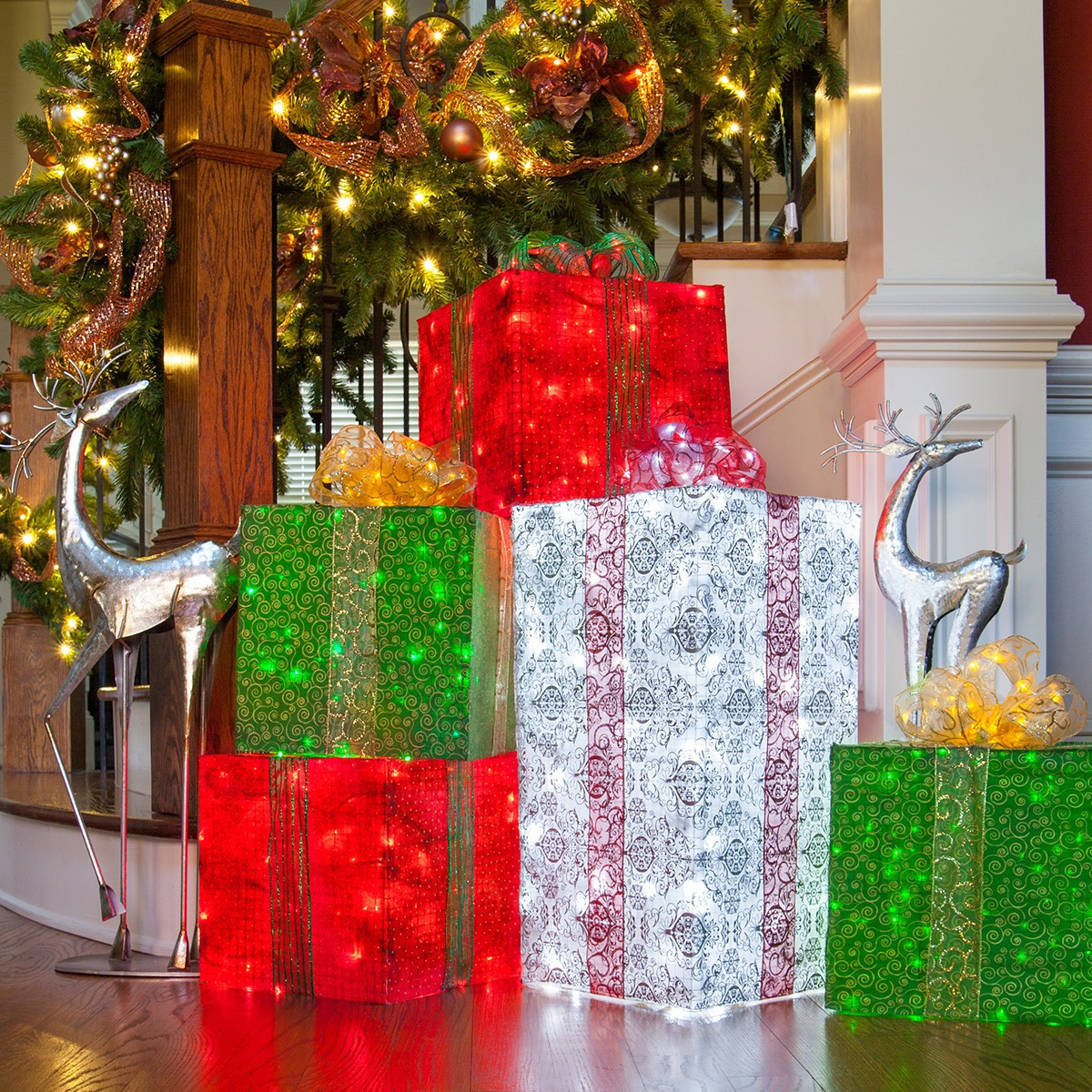 Best ideas about DIY Christmas Lights . Save or Pin DIY Christmas Decorations 4 Lighted Gift Boxes Now.
