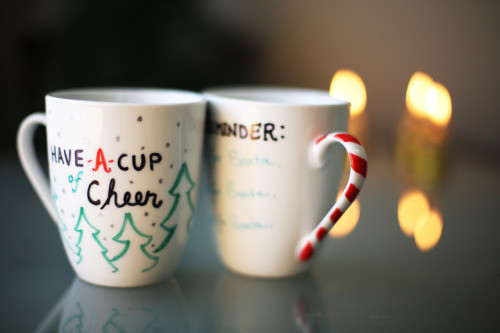 Best ideas about DIY Christmas Mug . Save or Pin thesorrygirls DIY Sharpie Christmas Mugs Now.
