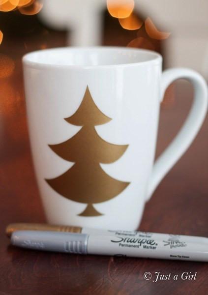 Best ideas about DIY Christmas Mug . Save or Pin Happy Holidays Gift Idea DIY Christmas Mugs Tatertots Now.