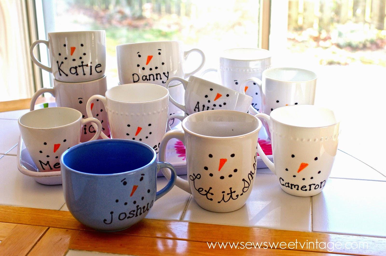 Best ideas about DIY Christmas Mug . Save or Pin Sew Sweet Vintage sharpie snowman mug Now.