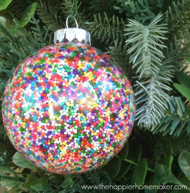 Best ideas about DIY Christmas Ornament . Save or Pin DIY Sprinkle Ornaments Now.