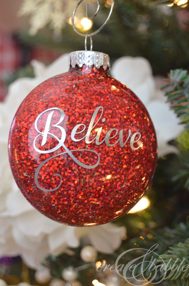 Best ideas about DIY Christmas Ornament Ideas . Save or Pin DIY Glitter Christmas Ornaments Create and Babble Now.