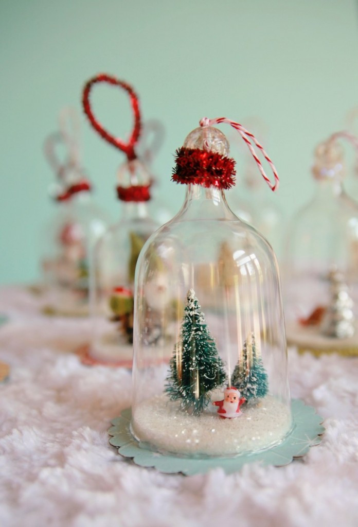 Best ideas about DIY Christmas Ornament Ideas . Save or Pin DIY Vintage Inspired Bell Jar Ornaments My So Called Now.