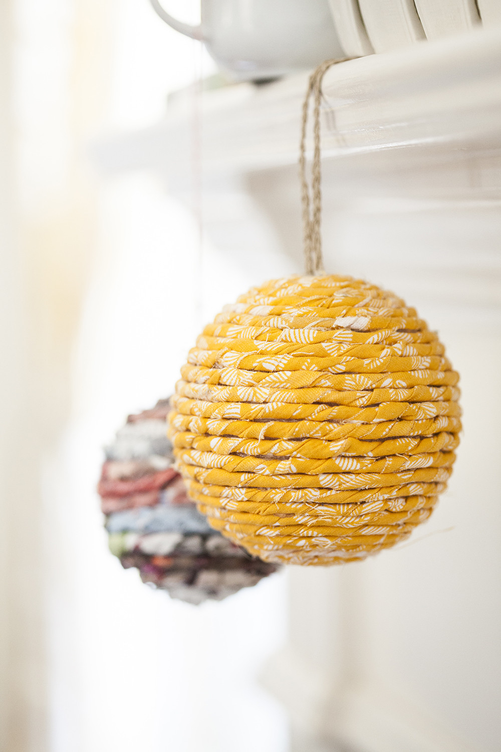 Best ideas about DIY Christmas Ornament Ideas . Save or Pin Easy DIY Wrapped Ball Ornament Now.
