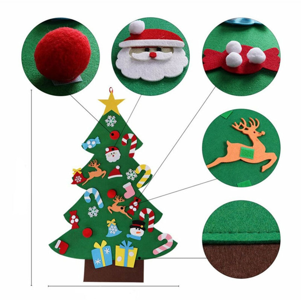 Best ideas about DIY Christmas Ornaments 2019 . Save or Pin DIY Felt Christmas Tree with Ornaments 2019 Toddler New Now.