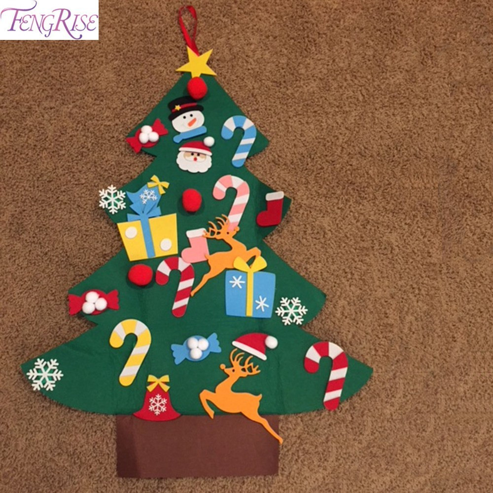 Best ideas about DIY Christmas Ornaments 2019 . Save or Pin FENGRISE Felt Christmas Tree Decorations For Home Kids DIY Now.