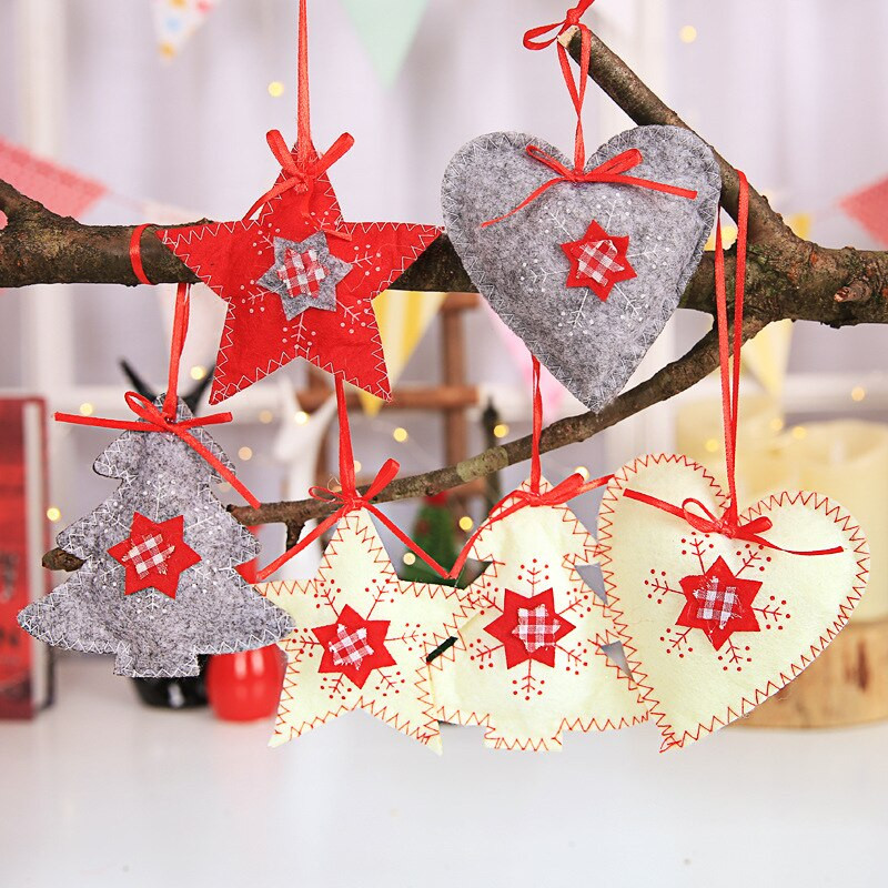 Best ideas about DIY Christmas Ornaments 2019 . Save or Pin 3PCS DIY Felt printed snowflake Christmas Tree Decorations Now.