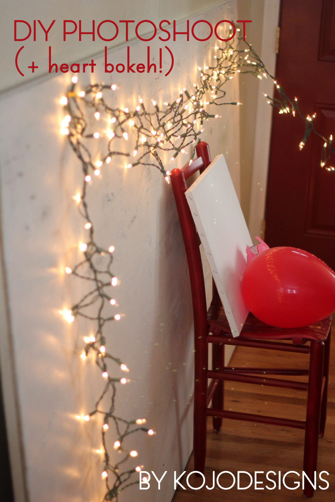 Best ideas about DIY Christmas Photography . Save or Pin DIY photoshoot backdrop and props… and heart bokeh Now.