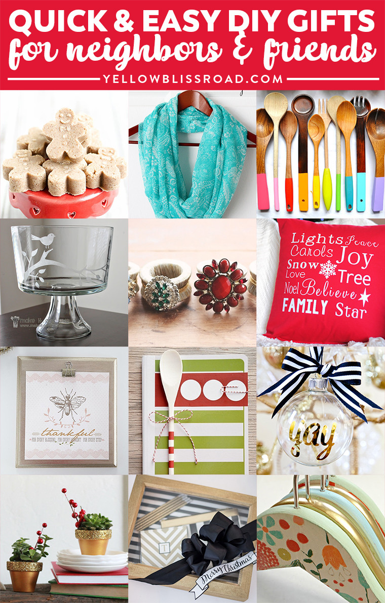 Best ideas about DIY Christmas Present Ideas . Save or Pin Bud Gifts Ideas for Friends and Neighbors Homemade Now.