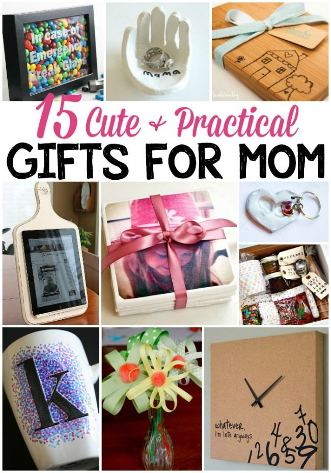 Best ideas about DIY Christmas Presents For Moms . Save or Pin 15 Cute & Practical DIY Gifts for Mom Gift ideas Now.