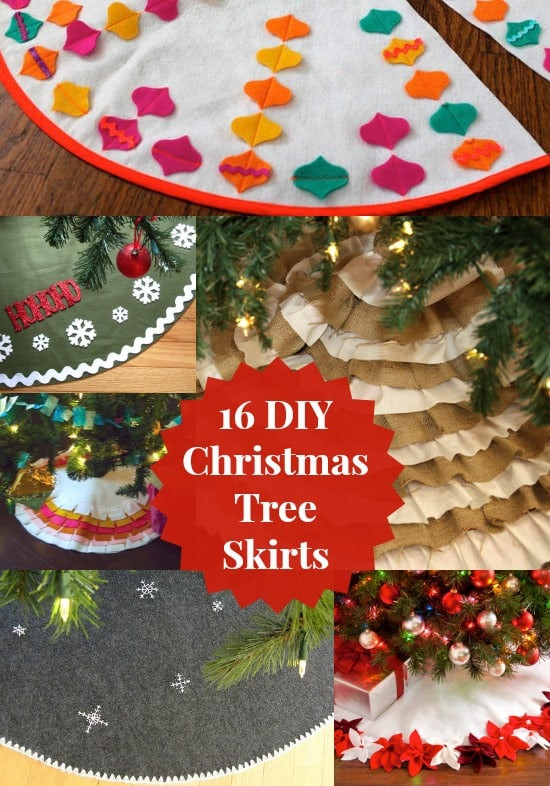 Best ideas about DIY Christmas Tree Skirts . Save or Pin 16 Ways to Make a Christmas Tree Skirt diycandy Now.