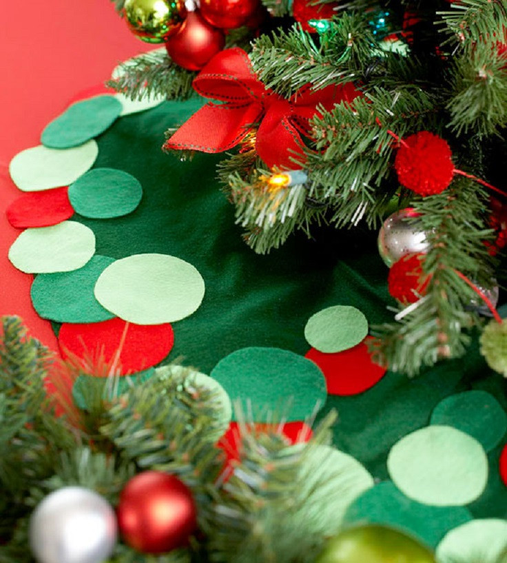 Best ideas about DIY Christmas Tree Skirts . Save or Pin Top 10 Festive DIY Christmas Tree Skirts Top Inspired Now.