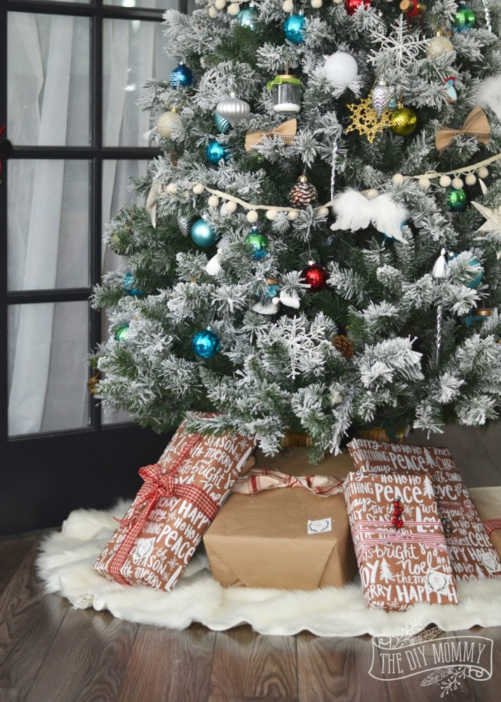 Best ideas about DIY Christmas Tree Skirts . Save or Pin Make A No Sew Faux Fur Christmas Tree Skirt HomeForChristmas Now.