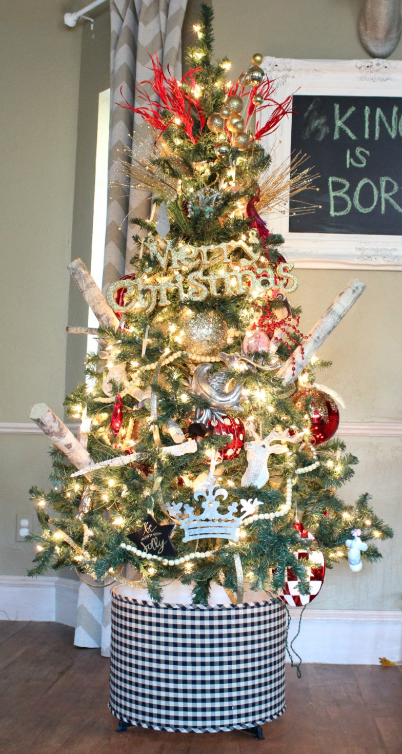 Best ideas about DIY Christmas Tree Skirts . Save or Pin $6 00 DIY Tree Skirt Tree Skirt Alternatives Refunk My Now.