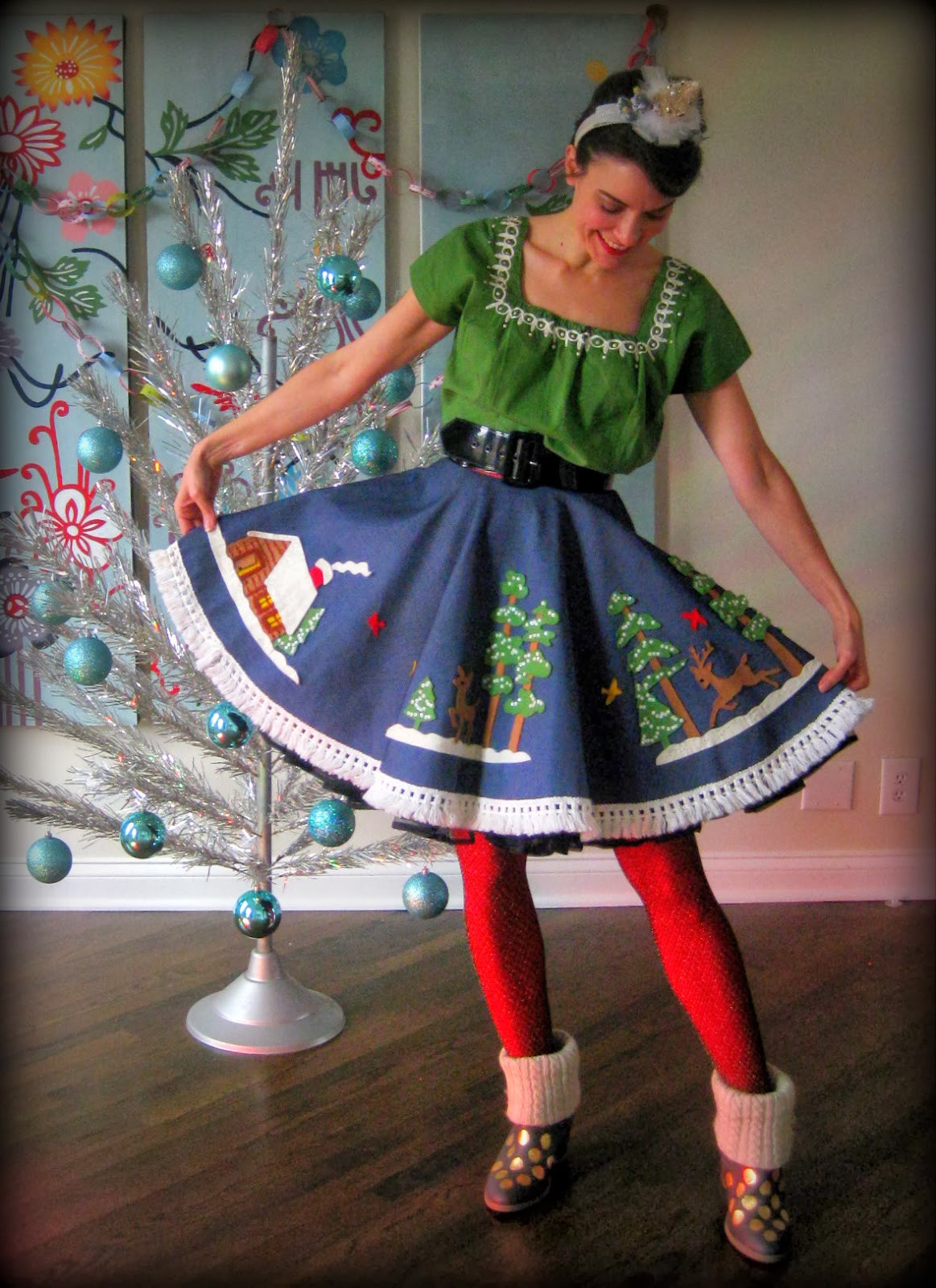 Best ideas about DIY Christmas Tree Skirts . Save or Pin Cassie Stephens DIY Christmas Tablecloth to Skirt AND Now.