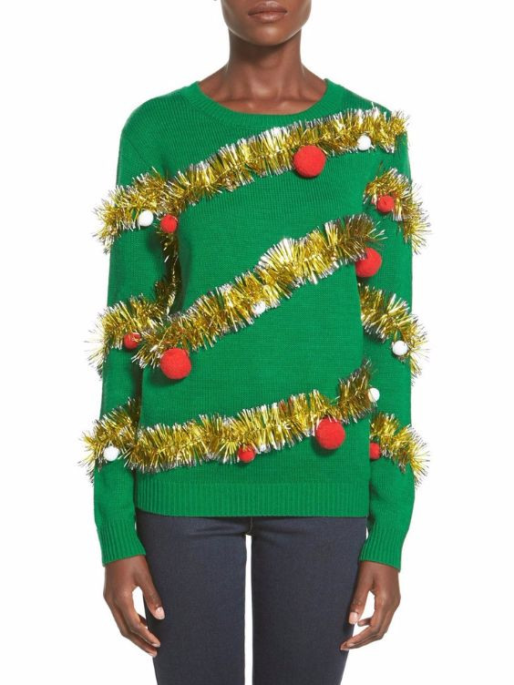 Best ideas about DIY Christmas Tree Sweater . Save or Pin 7 DIY Ugly Christmas Sweaters Now.