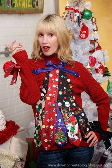Best ideas about DIY Christmas Tree Sweater . Save or Pin 53 DIY Ugly Christmas Sweater Ideas Now.