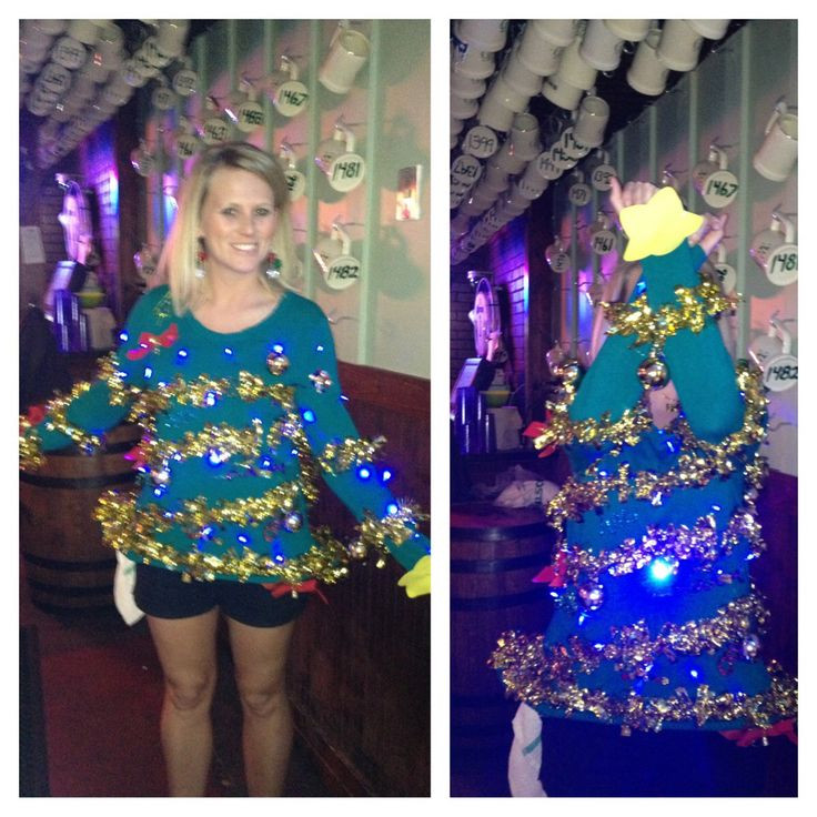Best ideas about DIY Christmas Tree Sweater . Save or Pin EXTRA creative Ugly Christmas Sweater awesome Put your Now.