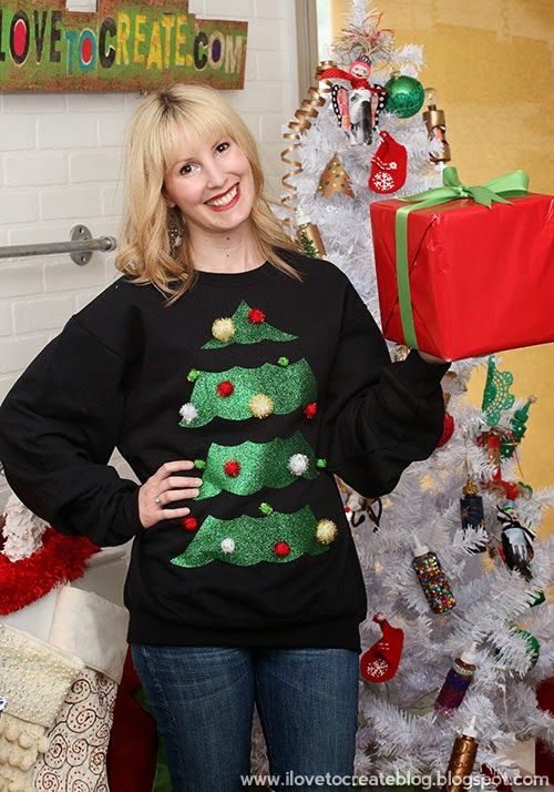 Best ideas about DIY Christmas Tree Sweater . Save or Pin 17 Best images about Ugly Christmas Sweater DIY on Now.