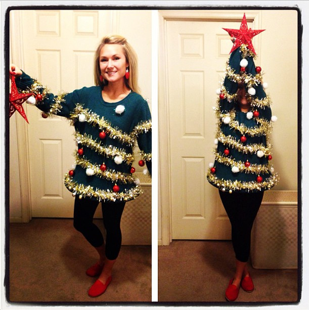 Best ideas about DIY Christmas Tree Sweater . Save or Pin ADULTS DIY Ugly Christmas Tree Sweater Really Awesome Now.