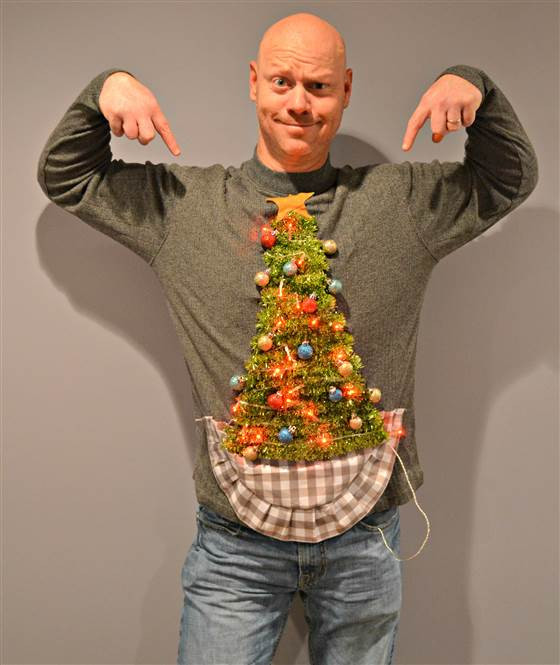 Best ideas about DIY Christmas Tree Sweater . Save or Pin 15 Do It Yourself Ugly Christmas Sweaters Oh My Creative Now.