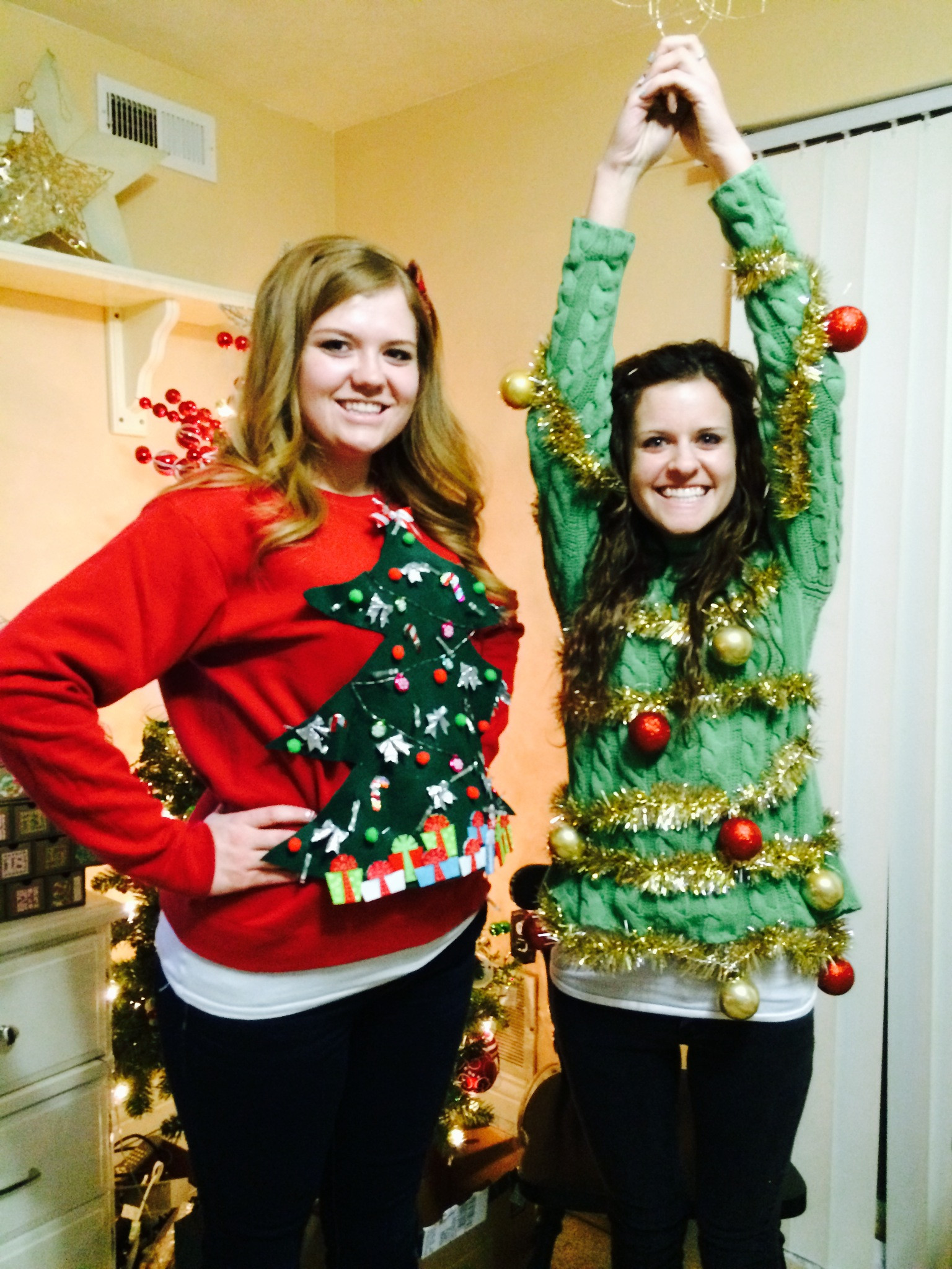 Best ideas about DIY Christmas Tree Sweater . Save or Pin DIY Ugly Sweater Ideas Now.