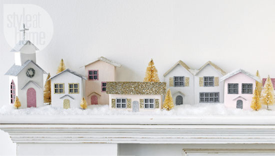 Best ideas about DIY Christmas Village . Save or Pin Christmas crafts Vintage paper houses Now.